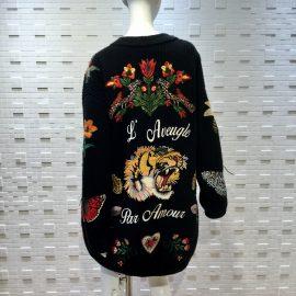 【GUCCI】16'刺繍ロングカーディガン!