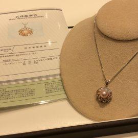 天神店 ロマンティックピンク!! パールネックレス!!