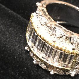 広島本通店 上品なレースモチーフ ダイヤモンドリング
