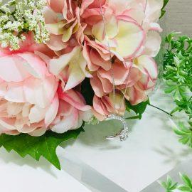 神戸三宮店☆可愛らしさと上品さを兼ね備えた☆ダイヤネックレス
