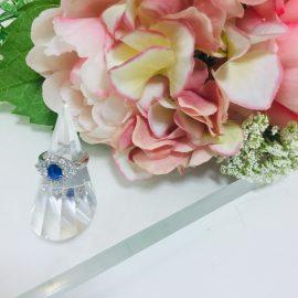 神戸三宮店☆鮮やかなサファイヤダイヤモンドリング