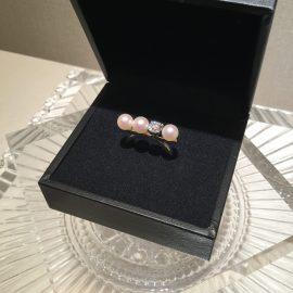 【タサキ】銀座店 バランスダイヤモンドリング