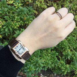 【カルティエ】時計とリングのカラーをあわせて♪