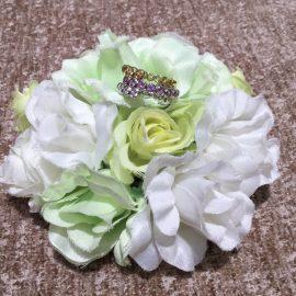 【フルエタニティ】サファイアとダイヤモンドリング