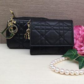 【青山店 クリスチャン ディオール】レディ ディオールのミニ財布とカードケース