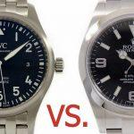 【高級時計の人気モデルを比較】「ロレックス エクスプローラーⅠ」 vs. 「IWC パイロットウォッチ」
